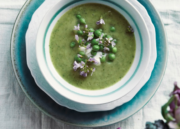 Watercress Foam Soup w/ Peas & Lady's Smock
