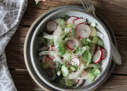 Fennel Radish Salad (with Hemp Seeds)