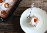 Simple Apricot Sheet Cake