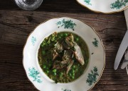 Einkorn Risotto with Pea Pesto & Artichokes