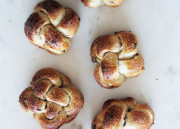 Sweet & Salty Chocolate Chip Challah Buns