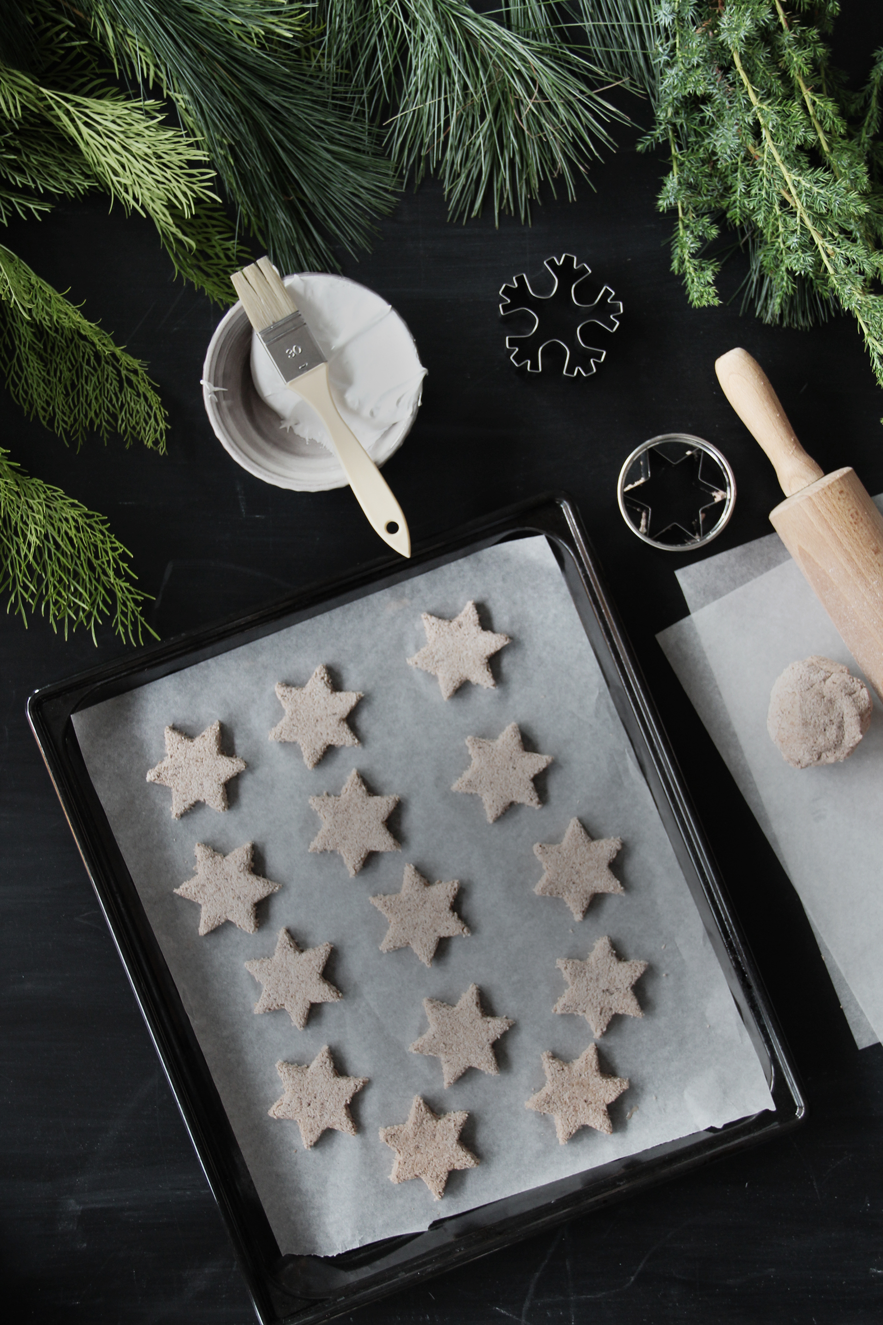 chocolate christmas cookies stars