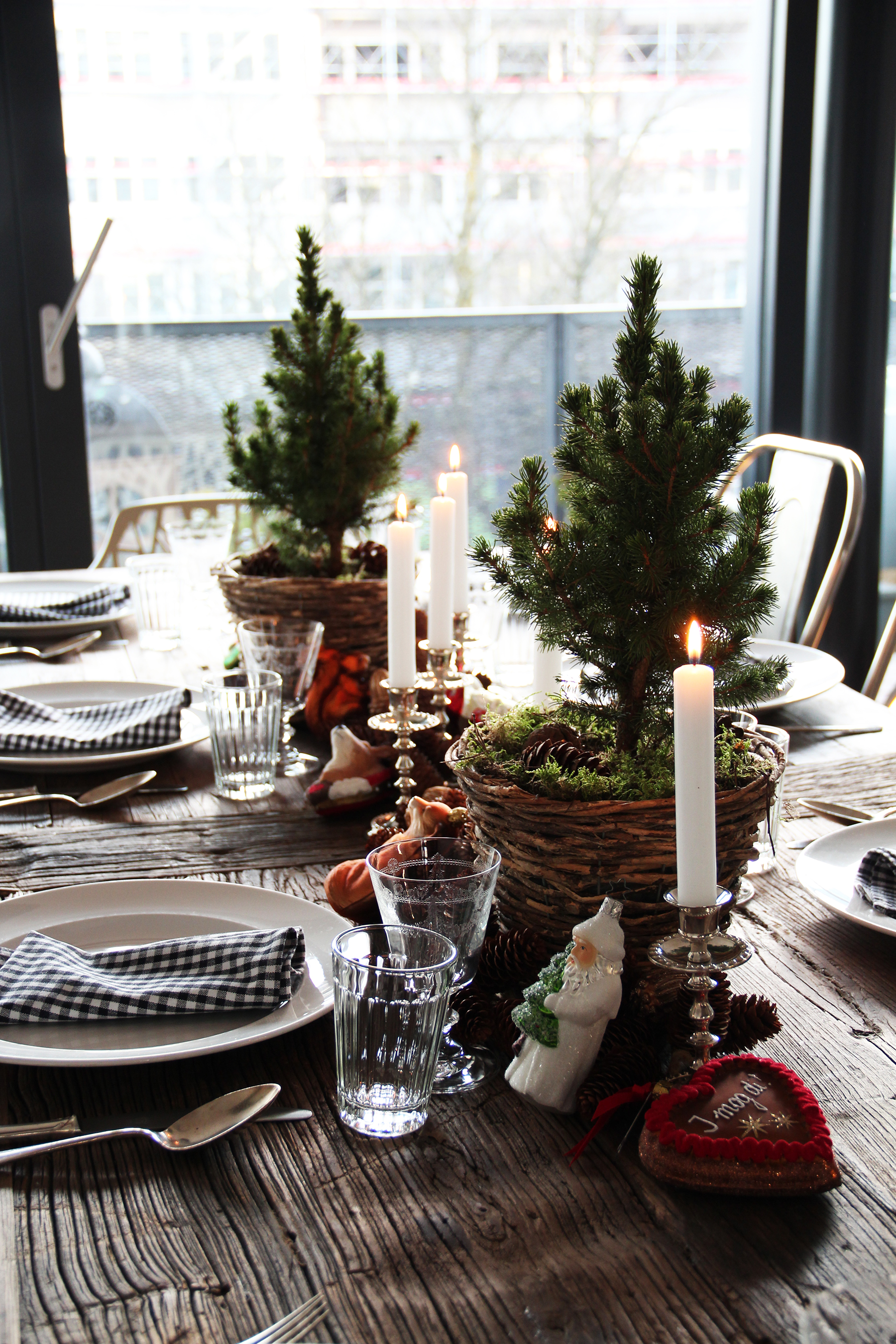 holiday table christmas trees
