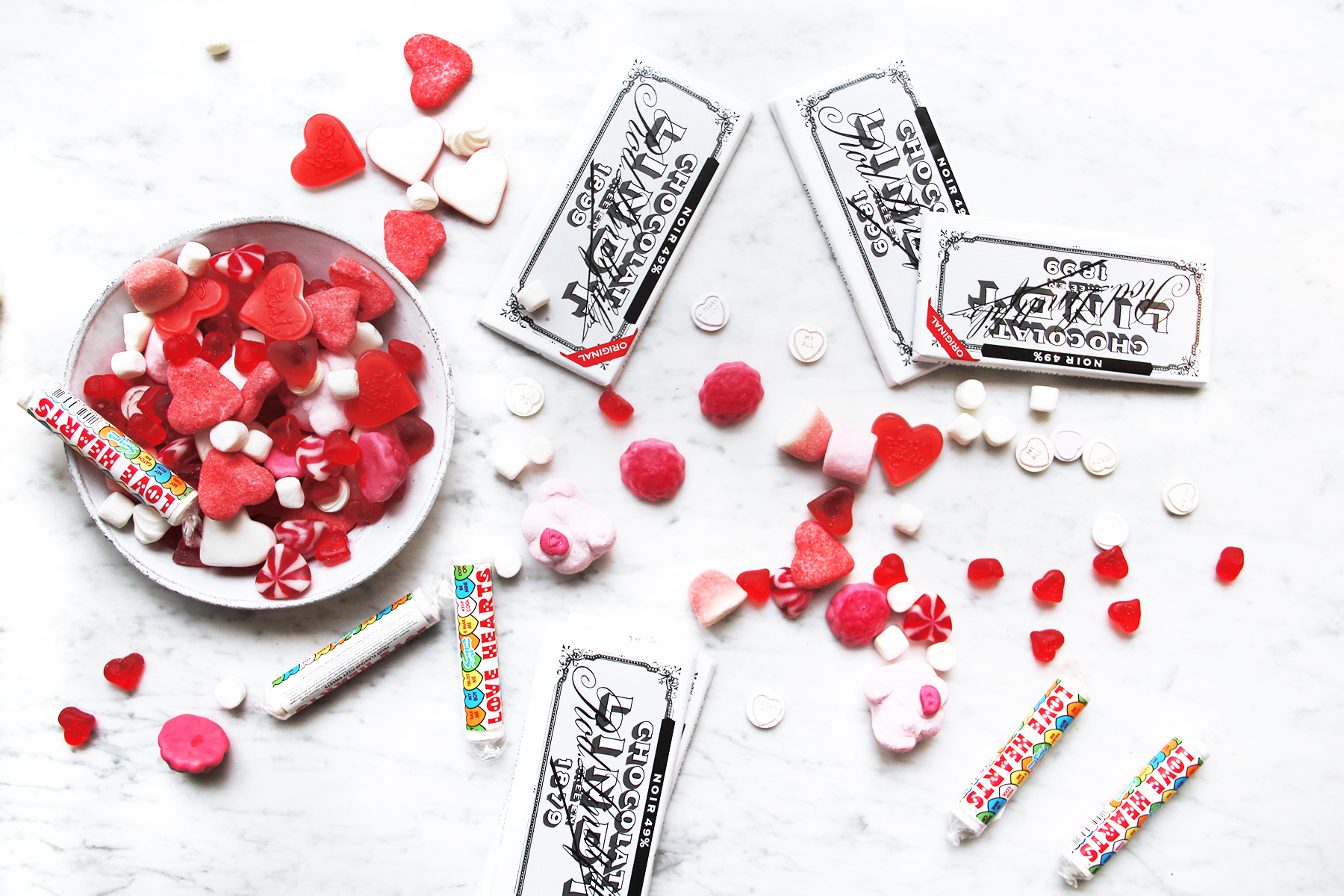 valentine's day candy gummy hearts marshmallows