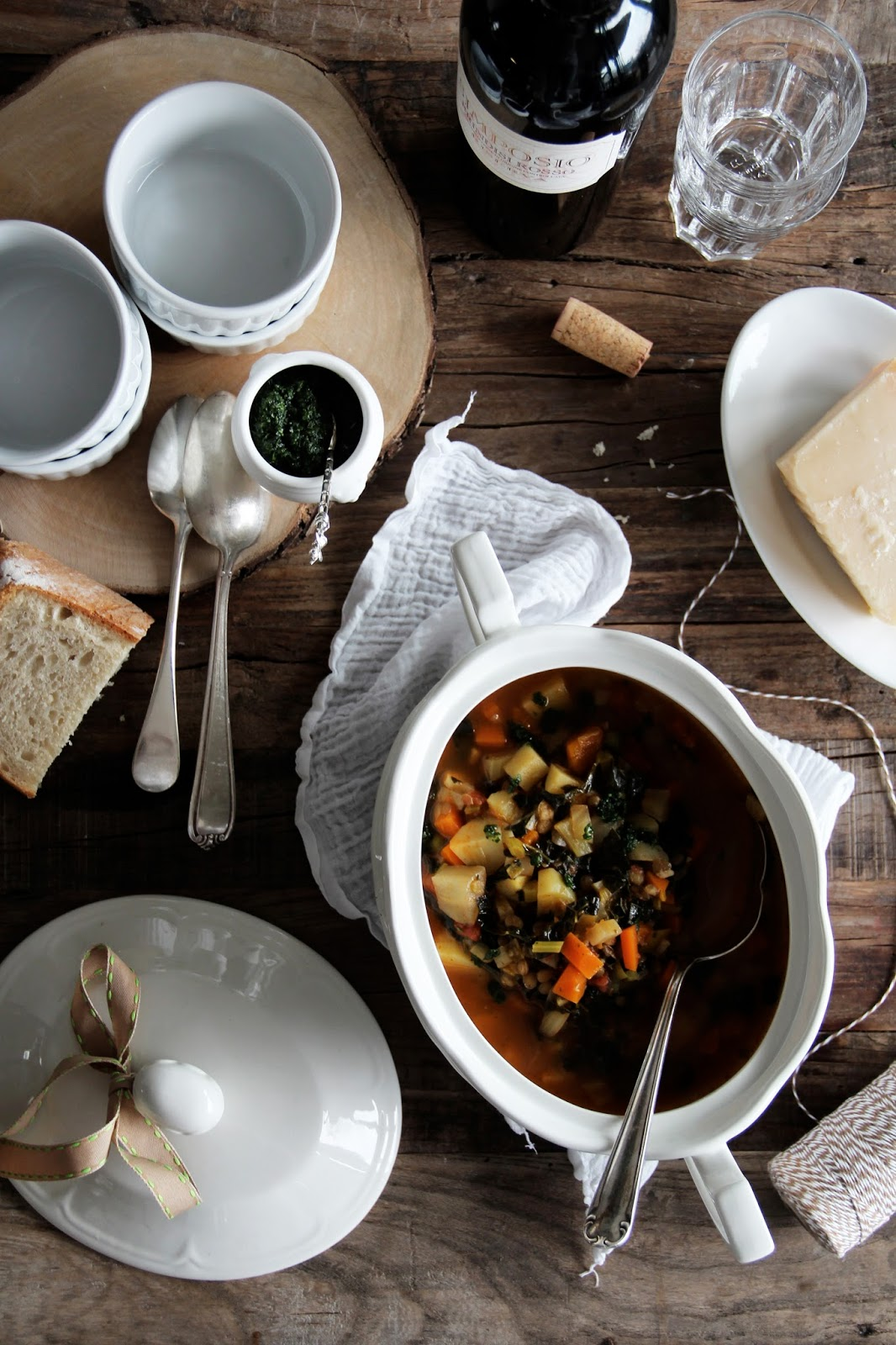 Wintery Minestrone with Kale