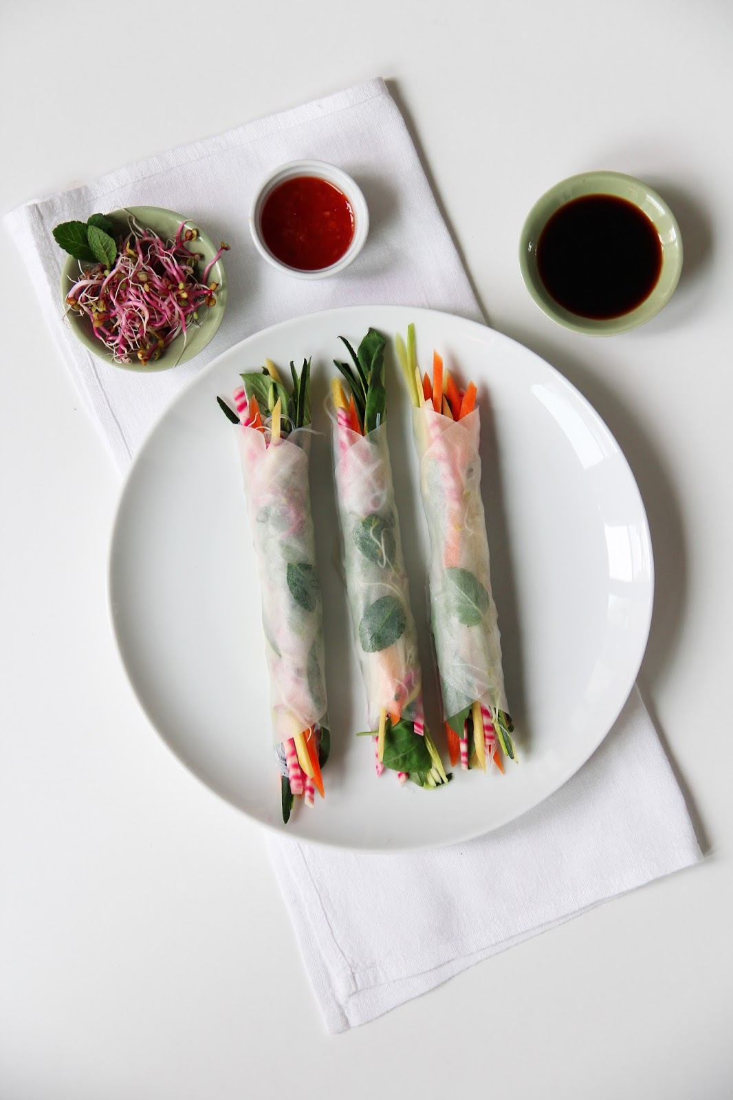 Summer Rolls with Crudités