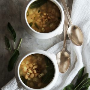 Simple, Brothy White Bean Soup