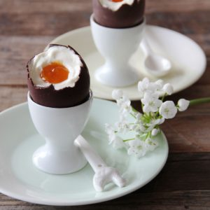 Cheese Cake Filled Easter Eggs