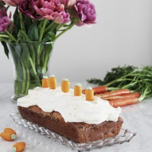 Carrot and Banana Loaf with Cream Cheese Frosting