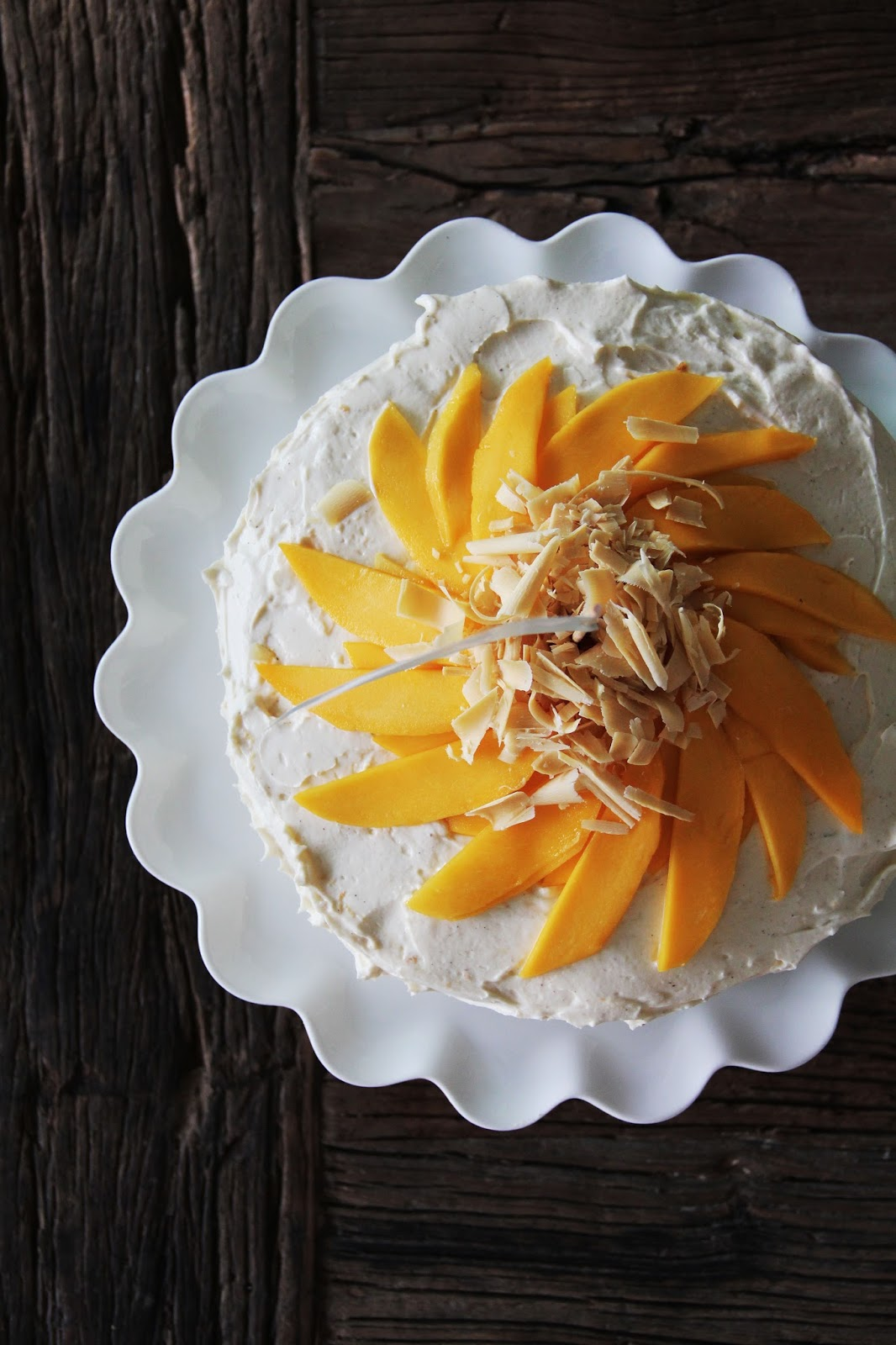 Mango Cream Layer Cake