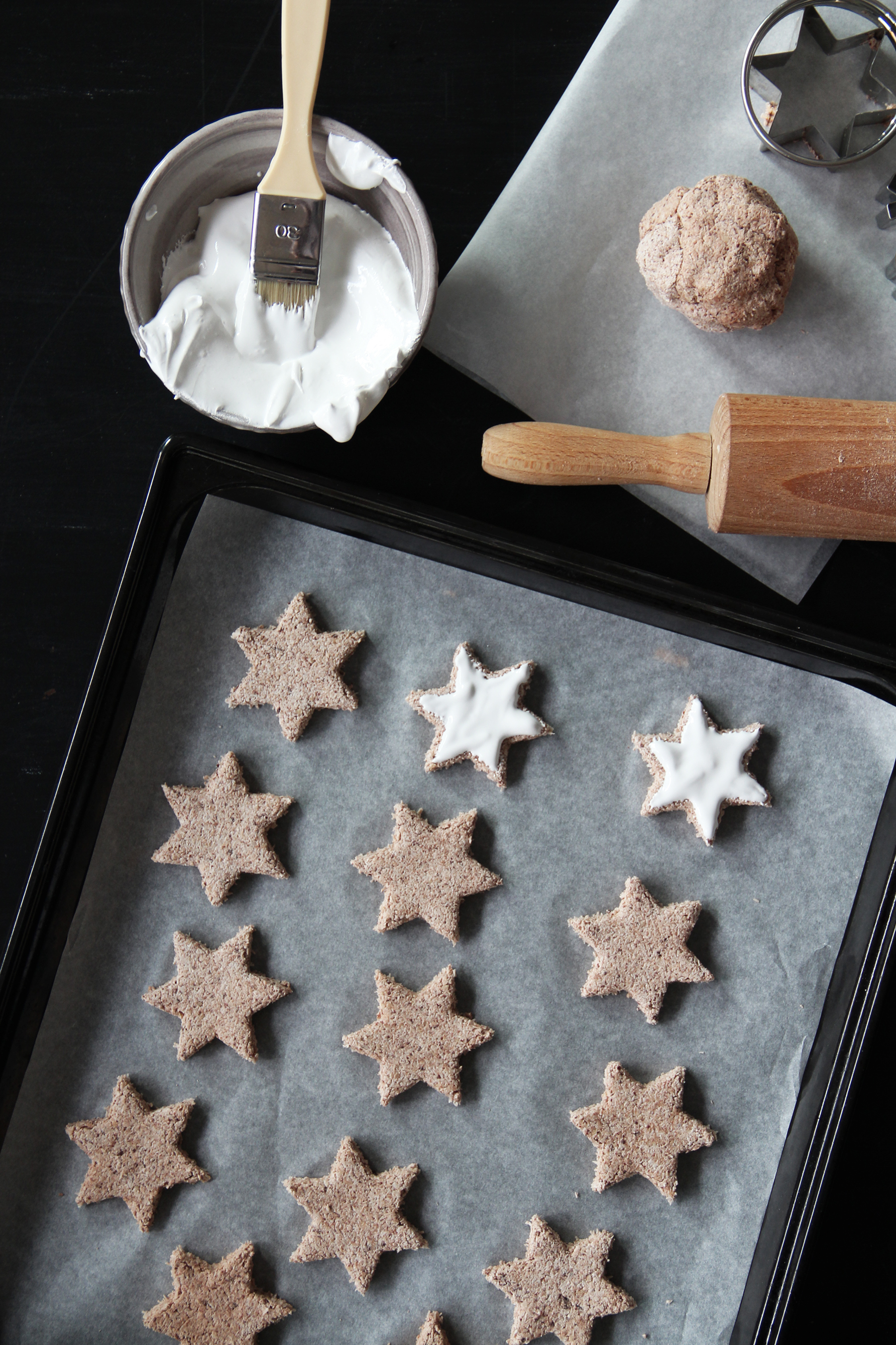 chocolate star cookies holidays