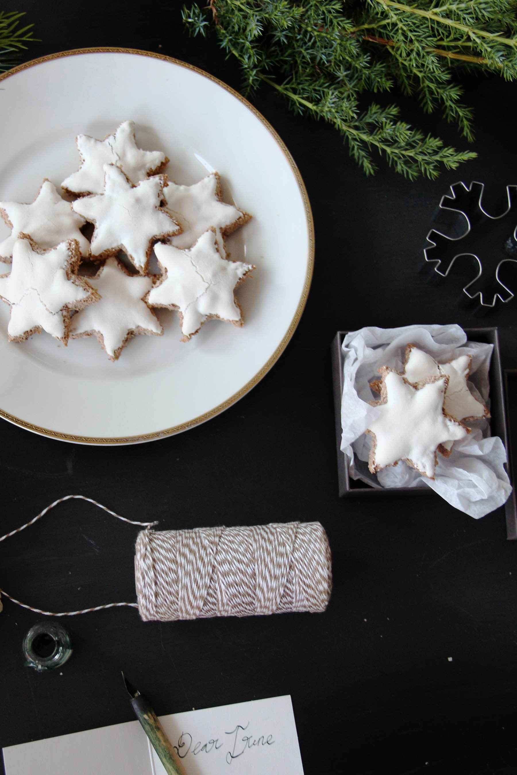 holiday chocolate coconut almond stards