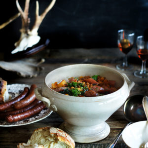 Alpine, wintery Stew with lentils & sausage
